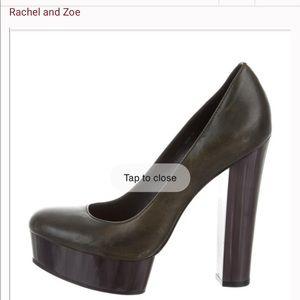 Rachel Zoe olive green high heels